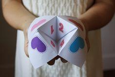 Valentine's Day fortune teller (free to print!)