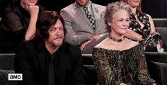 """""""Norman Reedus and Melissa McBride on stage at Talking Dead Episode Special """" Walking Dead Premiere, Walking Dead Tv Show, Walking Dead Series, Daryl And Carol, Talking To The Dead, Melissa Mcbride, Cute Disney Wallpaper, Daryl Dixon, Geek Culture"""