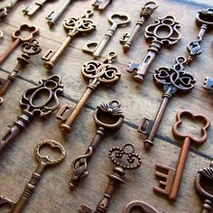 I want to start collecting keys and display them on an antique board hung on the wall