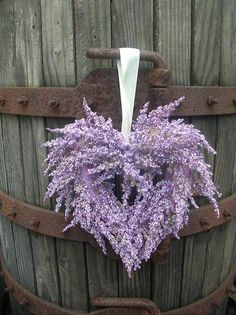 Heart of Lavender ~ Ana Rosa Lavender Cottage, Lavender Blue, Lavender Fields, Lavender Wreath, Lavender Decor, Purple Wreath, Floral Wreath, Deco Floral, Arte Floral