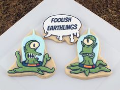 The Simpsons Halloween Aliens Cookies