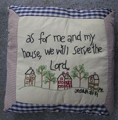 "MC46344-As for me & my house Pillow   16"" x 16""     $ 14.95"
