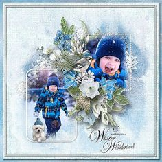 RAK for a friend Natalja & son Mark ♥ freebie Whimsical Winter by Rosie Designs Digital Scrapbooking, Whimsical, Layout, Christmas Ornaments, Holiday Decor, Winter, Blog, Painting, Design