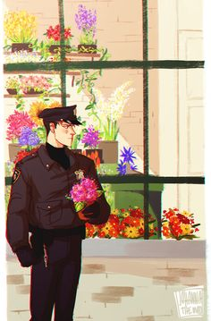 Cop Jean by Johannathemad on tumblr Inspired by this fic: http://archiveofourown.org/works/1082182?view_full_work=true