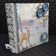 Amy Voorthuis Woodland Winter Misc Me album Rozvržení Knížek S Výstřižky be86913280