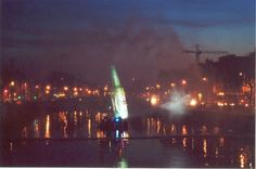 Dublin water screen event, River Liffey. Ireland