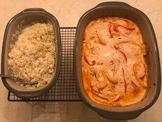 Hackbällchen Zigeuner Art aus dem Ofenmeister bzw. Zaubermeister von Pampered Chef mit Reis aus dem kleinen Zaubermeister Lily.