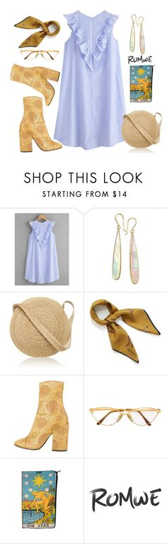 """""""striped dress"""" by callixrosek ❤ liked on Polyvore featuring Ippolita, Samuji, Mulberry, Dries Van Noten and Persol"""