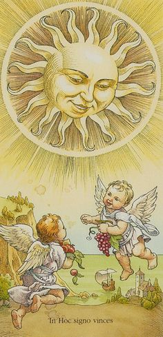 The Sun (19) - Upright: Fun, warmth, success, positivity, vitality. Reversed: Temporary depression, lack of success.