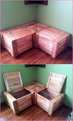 49 Creative Toy Storage Design Ideas Creative Toy Storage Design Ideas - There are all sorts of toys for assorted age ranges. Unique toys fulfill various developmental and educational pur. Wooden Pallet Furniture, Wooden Pallets, Diy Furniture, Furniture Storage, Bedroom Furniture, Bedroom Benches, Pallet Wood, Furniture Design, Toy Storage Bench