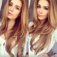 Cute Light Golden Brown Hair Color