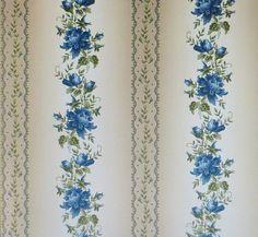 Regent's Park Marineblau Elegant Floral von SuesFabricNSupplies