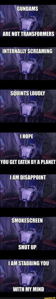 ♡ On Pinterest @ kitkatlovekesha ♡ ♡ Pin: TV Show ~ Transformers Prime ~ Optimus Prime Memes ♡