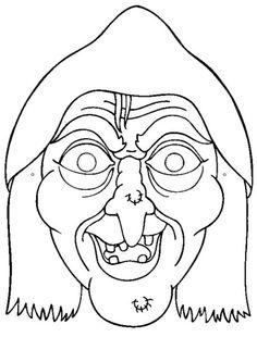 Máscaras de Halloween a color  Fantasmas de Halloween para colorear.  Dibujos variados de Halloween para co...