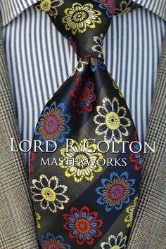 Lord R Colton Masterworks Tie - Miharashi Navy Gray Silk Necktie - $195 New #LordRColton #NeckTie