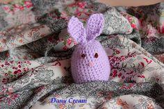 Crochet bunny egg cover. Video tutorial with EN subs