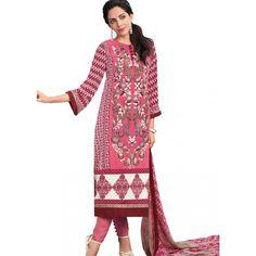 Red Crepe Party Wear #Churidar Kameez With Dupatta #SalwarKameez #Fashion #Clothing #Shopping