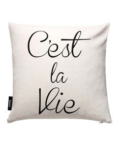C'est La Vie als Kissenbezug von THE MOTIVATED TYPE | JUNIQE