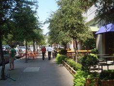 planted/ shaded sidewalk