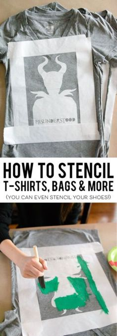 How to make Customized Stencils (for t-shirts, bags & more) | eBay [ad]