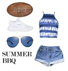 """""""Summer BBQ"""" by queenbles ❤ liked on Polyvore featuring Boohoo, NIKE, Tory Burch and Mud Pie"""