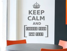 How cool would it be to make your own keep calm wall sticker, well now you can ! With your own choice of custom text, 3 sizes and numerous colour options to choose from, what better way to customise your decor ! Personalised Wall Stickers, Wall Sticker Design, Wall Stickers Quotes, Make Your Own, How To Make, Beautiful Wall, Keep Calm, Colours, Cool Stuff