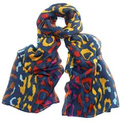 FAIR+True Unique New Fairtrade Leopard Multicolour Print Scarf ($23) ❤ liked on Polyvore featuring accessories, scarves, leopard print shawl, leopard scarves, print scarves, patterned scarves and colorful scarves