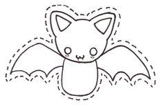 Plantilla para hacer un murciélago gracioso de fieltro | Broches de Fieltro | Todo sobre la confección de los Broches de Fieltro: Muñecas, Flores, Diseños originales, Patrones