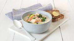 Oppskrift på Laksesuppe med ris, foto: