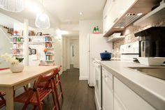 Kitchen / Hall, Michael and Karen, Season 8 Kitchen Layout, Kitchen Colors, Kitchen Decor, Basement Apartment, Apartment Living, Income Property, Kitchen Floor Plans, Kitchen Models, Under Sink