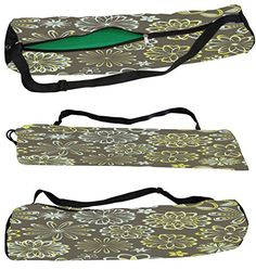 8cdd703b09ab Snoogg White Florals Canvas Yoga Bag Peace Beautifully Crafted for Extra  Wide Yoga Mat and Gym