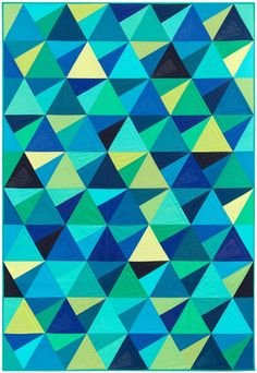 """Stereo"" quilt designed by Jaybird Quilts. Features Kona Cotton Solids. Ten Square friendly."