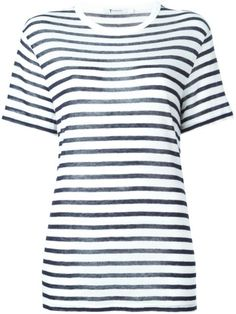 T BY ALEXANDER WANG striped T-shirt. #tbyalexanderwang #cloth #t-shirt