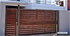 Pergola With Retractable Canopy Fence Wall Design, Gate Design, House Design, Front Gates, Entrance Gates, Iron Pergola, Wooden Gates, Modern House Plans, Steel Doors