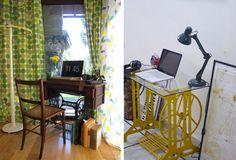 Olá, pessoal, hoje eu trouxe ideias de como usar uma máquina de costura antiga na decoração. A velha companheira que marcou época pode virar mesa, aparador, bancada, escrivaninha, penteadeira, banco, floreira e até base da pia do banheiro. Fica um charme! Bom, eu sou um pouco suspeita porque adoro um toque retrô nos ambientes, ainda …