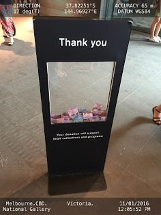 Art Centre Donations Box   Art Charity Donations-Box Melbourne                                                                                                                                                     More