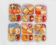 Ski lunches for Saturday for the whole family | packed in @EasyLunchboxes containers