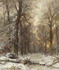 Winter in het Haagsche bos Lodewijk Franciscus Hendrik (Louis) Apol