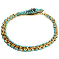 Victorian Turquoise Snake Bracelet France, late 19th century
