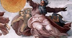 Learn more about Creation of the Sun, Moon, and Plants 1511 Michelangelo - oil artwork, painted by one of the most celebrated masters in the history of art. Michelangelo, Who Wrote Psalms, Psalm 110, Kings Of Israel, Field Museum, Legends And Myths, Religious People, Genesis 1, The Son Of Man