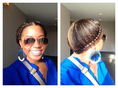 Lazy hair day.. Flat twists #NaturalHair #FlatTwists