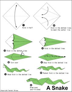 Simple Origami Snake | Origami for Kids