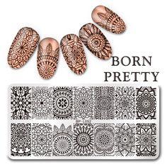 $2.99 BORN PRETTY 12*6cm Rectangle Stamping Template Floral Design Manicure Nail Art Image Plate BP-L052 - BornPrettyStore.com