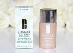 This is a really good foundation with medium to full coverage and light enough you wont feel it in your skin. it has a satin finish which is good for dry skin and during winter. #highlyrecommemded #clinique #evenbetter #foundation
