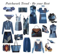 Patchwork Trend- Be your Best by gabriela2105 on Polyvore featuring moda, Sea, New York, SJYP, Diesel, Dondup, Rebecca Taylor, Acne Studios, Lisa Marie Fernandez, River Island and Lanvin