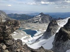 View of the upper lakes from Dragontail Peak summit • The Enchantments • Leavenworth, WA • August 2016
