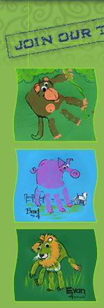 pig, lion, monkey