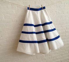 fresh spring skirt by sohomode on Etsy