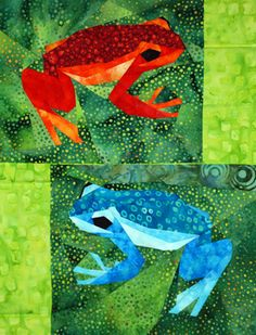 silver linings quilting pattern poison dart frog Maybe one day I will be good enough at sewing to make this!
