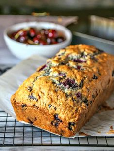 Cherry Chocolate Chunk Bread, a sweet quick bread with a powdered sugar glaze, is perfect for brunch or dessert! So decadent, yet so easy to make! Cherry Quick Bread, Bing Cherries, Cherry Recipes, Cherry Tart, Sweet Breakfast, Chocolate Cherry, Easy Cake Recipes, Sweet Treats, Good Food